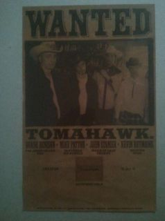 Tomahawk   promo poster / faith no more / mike patton / mr. bungle