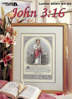 Bible Verse Religious Christian Cross Stitch Pattern ©1995 New