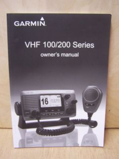 Garmin VHF 100 200 Series Owners Manual