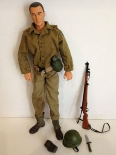 Military Action Figure 12 1 6 Fully Dressed Posable Hat Rifle