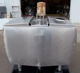 Gallon Vanvetter Self Contained Stainless Steel Bulk Milk Tank