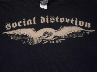 Distortion Est 79 L T Shirt Black Giant Mike Ness Vintage Look