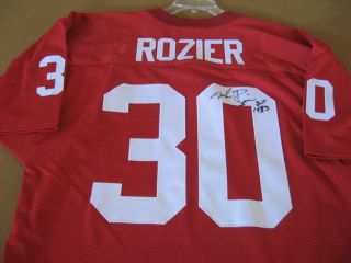 MIKE ROZIER SIGNED JERSEY NEBRASKA HUSKERS HEISMAN 1983 GO BIG RED