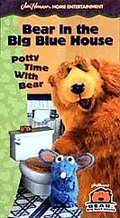 Bear in the Big Blue House   Potty Time with Bear VHS, 1999, Closed