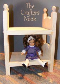 Doll Bunk Bed Display Collectible American Girl Mini Furniture
