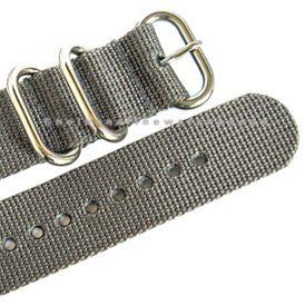 Nylon Grey German Made UTC Military Diver 2 PC Watch Band Strap