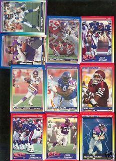 Minnesota Vikings 1990 Score Team Set Keith Millard