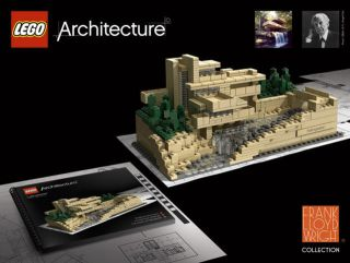 Lego FALLINGWATER 21005 Set Frank Lloyd Wright Architecture COMPELTE