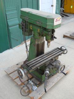 110V BENCHTOP VERTICAL MILL milling machine R 8 spindle belt drive