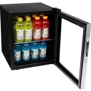 Beverage Cooler Mini Fridge Compact Glass Door Can Refrigerator
