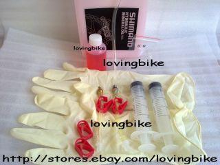 Shimano Brake Bleed Kit w Mineral Oil for XTR Saint XT SLX Deore LX