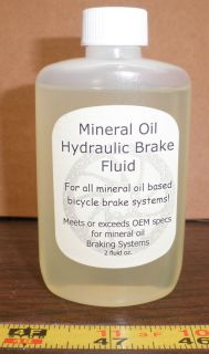 Mineral oil based bicycle hydraulic brake fluid, Magura and shimano