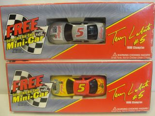 in Box Terry Labonte 5 Die Cast Mini NASCAR Racing Car Kelloggs