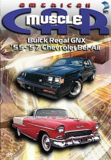 Muscle Car Buick Regal GNX 55 57 Chevrolet Bel Air DVD, 2006