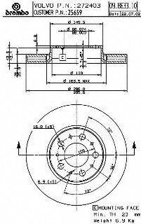 Brembo 25659 Disc Brake Rotor