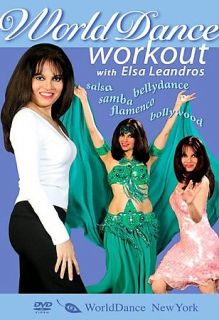 World Dance Workout Bellydance, Salsa, Samba, Flamenco, Bollywood DVD