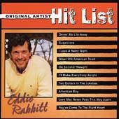 Original Artist Hit List by Eddie Rabbitt CD, Apr 2003, Compendia