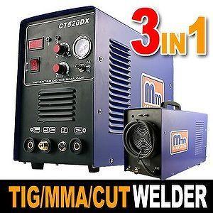 IN 1 50A Plasma Cutter 200 Amp TIG MMA CUT Stick Arc Welder Cutter