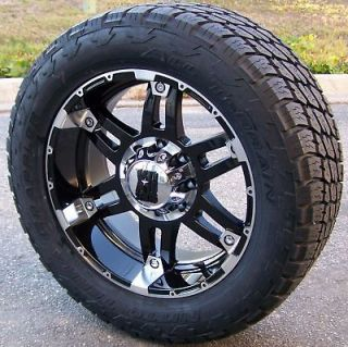 20 BLACK XD SPY WHEELS NITTO TERRA GRAPPLER TIRES SIERRA TAHOE