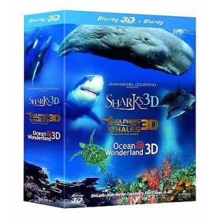 Trilogy: Dolphins & Whales/Sharks/ O​cean Wonderland (Blu ray 3D/2D