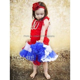 Red White Blue Pettiskirt 4th July National Party London Olympic Tutu