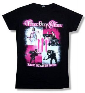 THREE DAYS GRACE LIFE STARTS NOW TOUR BABY DOLL T SHIRT NEW GIRLS