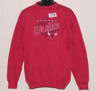 VINTAGE 90s Chicago BULLS NBA Logo7 SEWN Letters Crewneck Sweatshirt