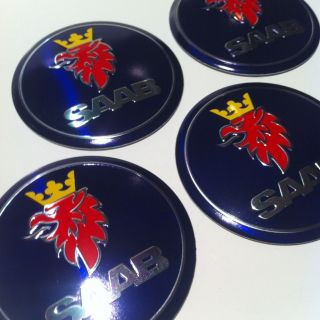 Saab Center Cap Emblem Badge Wheel Rim Sticker Hub Symbol 900 2000 9
