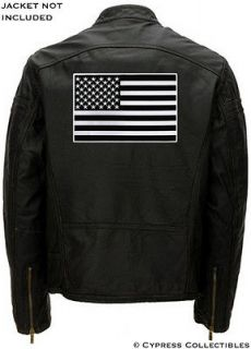 BLACK AMERICAN FLAG EMBROIDERED IRON ON BIKER PATCH LARGE BACK SIZE