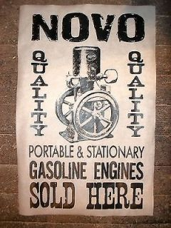 NOVELTY POSTER NOVO STATIONARY HIT & MISS GAS ENGINES SOLD HERE 11x17