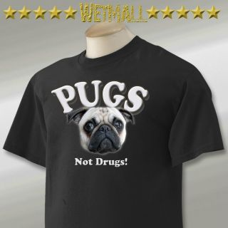 PUGS Not Drugs Funny Humor TV Movie TOTE BAG T Shirt