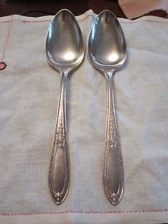 Wm Rogers & Son AA Serving Spoons Pat APR 1425 Intricate Pattern