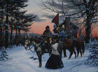 John Paul Strain Civil War Canvas   General A.P. Hill and His Wife