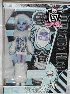 Monster High ABBEY BOMINABLE ABBY Doll Classroom w SHIVER NEW