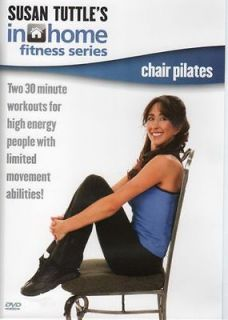 SUSAN TUTTLE IN HOME FITNESS CHAIR PILATES EXERCISE DVD SENIOR CITIZEN