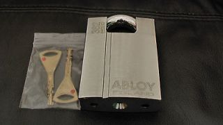GENUINE ABLOY 362 HIGH SECURITY HARDENED BORON PADLOCK.