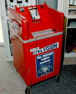 Vintage Gas/Service Station Engine Analyzer Cabinet    Heyer 1960 (est