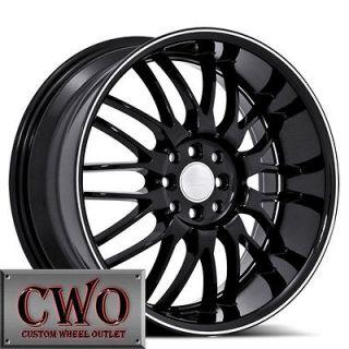 Black Ruff R951 Wheels Rims 4x100/4x114.3 4 Lug Civic Integra Accord