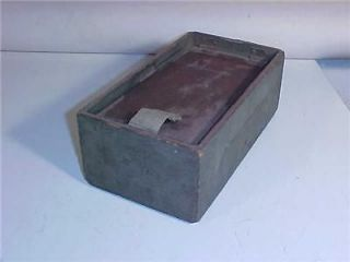Vintage Army Military Storage Box Wood Felt Lined 10