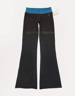 GREEN APPLE Gray Eco Friendly Active Blue Flare Bamboo Yoga Pants S M