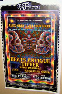 ALEX GREY & ALLYSON GREY Beats Antique Tripper FILLMORE Show Poster