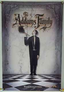 THE ADDAMS FAMILY ROLLED LURCH TSR ORIG 1SH MOVIE POSTER ANJELICA