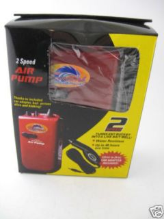 Tsunami Air Pump Bait Fish Aerator DC 12 3V Car Adaptor