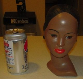 Vintage Holland Mold pottery African Woman Head Statue Bust not a