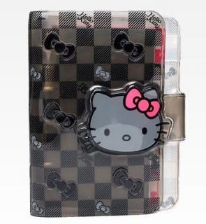 SANRIO AUTHENTIC HELLO KITTY VINYL BLACK/GRAY CHECKERED AGENDA