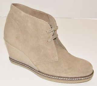 Crew Suede MacAlister Wedge Boots 8 Nut