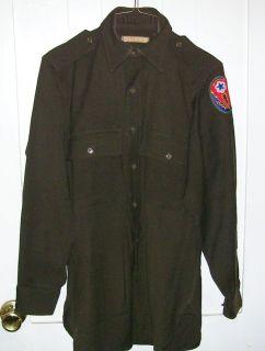WWII World War 2 Green Army Nurses Uniform Shirt W/Pics. & Interesting