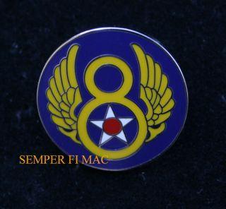 8TH AIR FORCE AFGSC BARKSDALE AFB WWII HAT PIN SAC B 2 B 52 B 17 PILOT