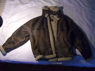 Air Force Jacket B 3 Leather Aviator USAAF Size S/L Genuine AC 20652