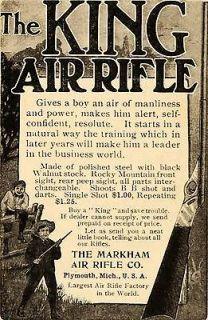 1905 Ad Markham Air Rifle King Antique BB Gun Plymouth   ORIGINAL